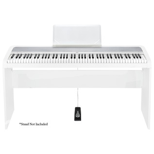Korg B1 Digital Piano, White - Piano With Stand (Stand Not Included)