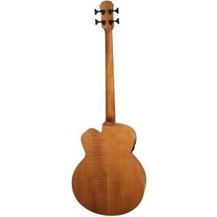 Aria FEB Fretless Electro Acoustic Bass Guitar, Flame Natural