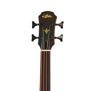 Aria FEB Fretless Electro Acoustic Bass Guitar, Light Vintage Burst