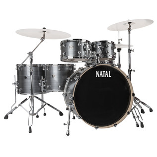 Natal Arcadia UFX Plus Drum Kit With Hardware Pack, Grey Strata