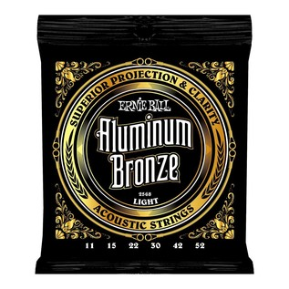 Ernie Ball 2568 Aluminium Bronze Acoustic Guitar Strings, 11-52