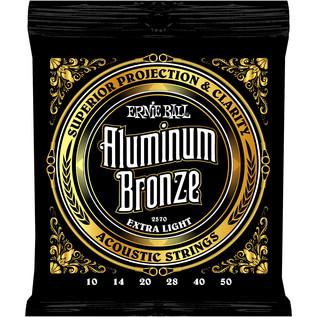 Ernie Ball 2570 Aluminium Bronze Acoustic Guitar Strings, 10-50