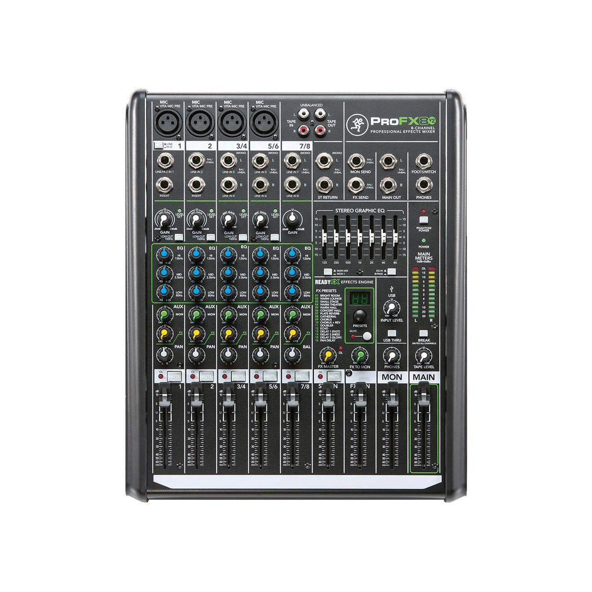 Mackie profx8v2 table de mixage 8 voies effets professionnels ex d mo - Table de mixage professionnel ...