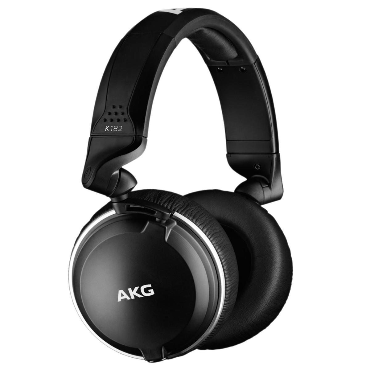 AKG K182 Closed-Back Monitoring Headphones at Gear4music