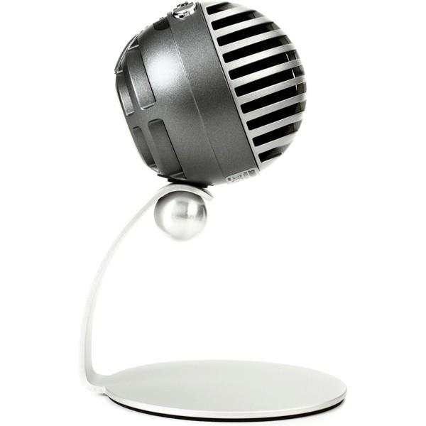 Shure MV5 Digital Condenser Mic Mac, PC, iPhone, iPod, iPad - Silver