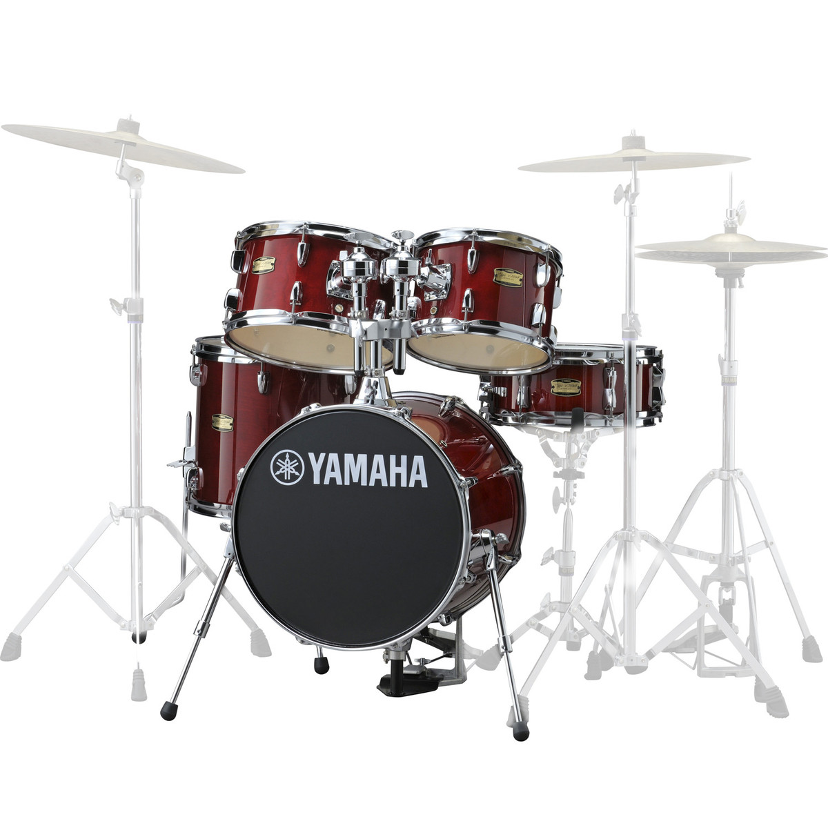 Yamaha Manu Katche 5 Piece Junior Drum Kit Cranberry Red At Gear4music