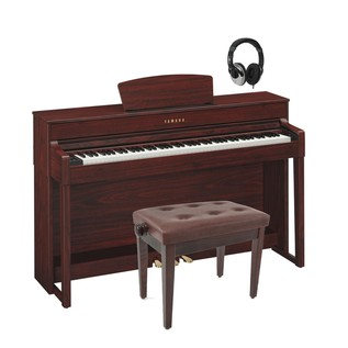 Yamaha Clavinova CLP535 Digital Piano, Mahogany Package Deal