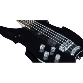 Warwick Rockbass Vampyre Left Handed 4-String Bass, Black High Polish