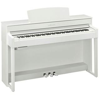 Yamaha Clavinova CLP575 Digital Piano, White Package Deal