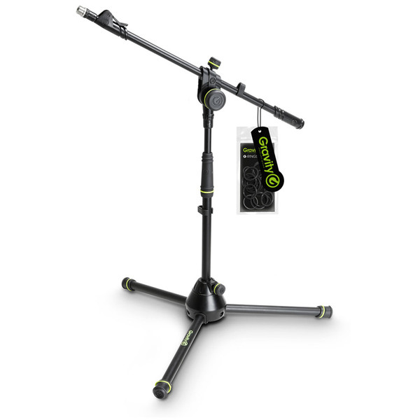 Gravity GMS4222B Short Microphone Stand with Telescoping Boom
