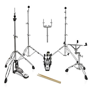 Natal Arcadia UFX Plus Drum Kit With Hardware Pack, Red Sparkle