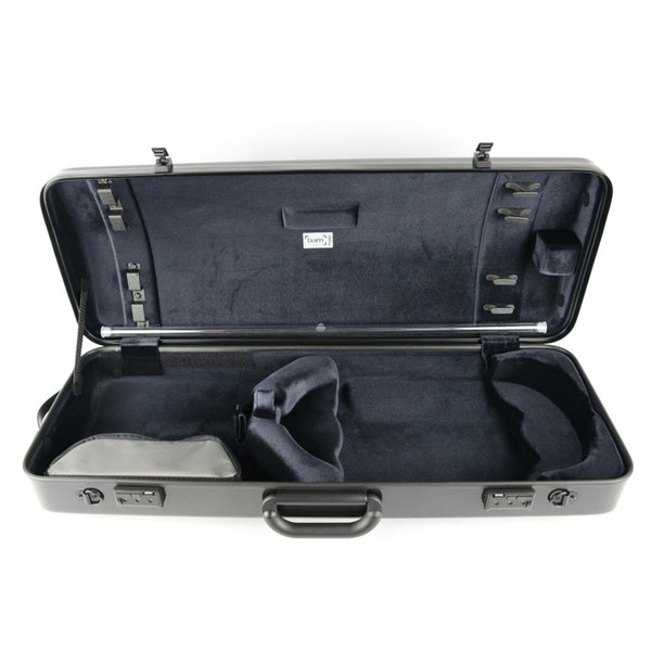BAM 2201XL Hightech Oblong Viola Case, Black Carbon, Inside