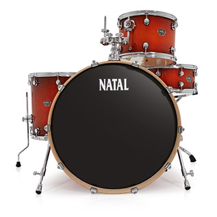 Natal Arcadia 4 Piece Rock Shell Pack, Sunburst Lacquer