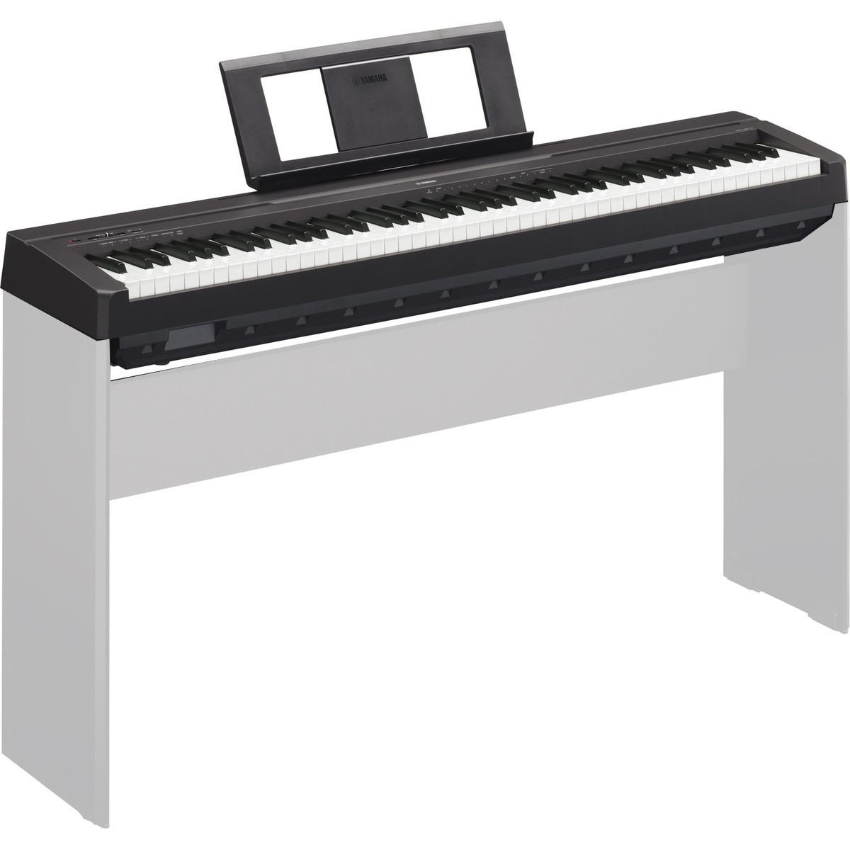 yamaha p45 piano num rique noir gear4music. Black Bedroom Furniture Sets. Home Design Ideas