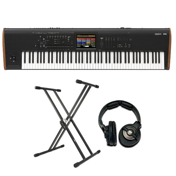 Korg Kronos 88 2015 Music Workstation with Stand and Headphones