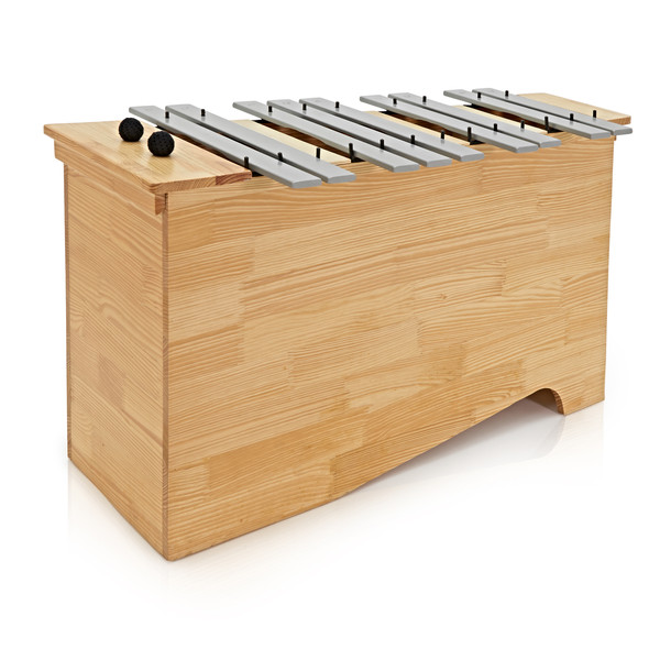 Floor Standing Bass Glockenspiel by Gear4music, Chromatic Half