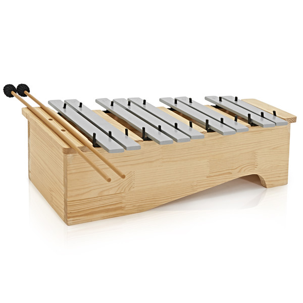 Floor Standing Soprano Glockenspiel by Gear4music, Chromatic Half