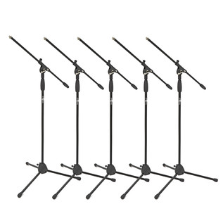 Boom Mic Stand by Gear4music, 5 Pack