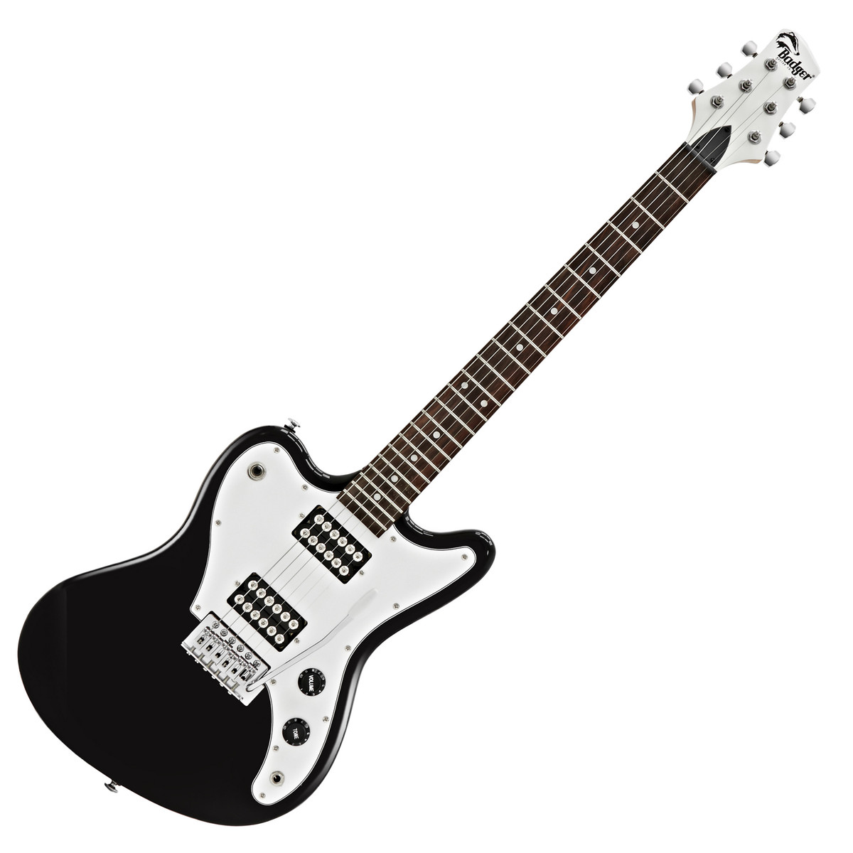 badger electric guitar black at gear4music. Black Bedroom Furniture Sets. Home Design Ideas