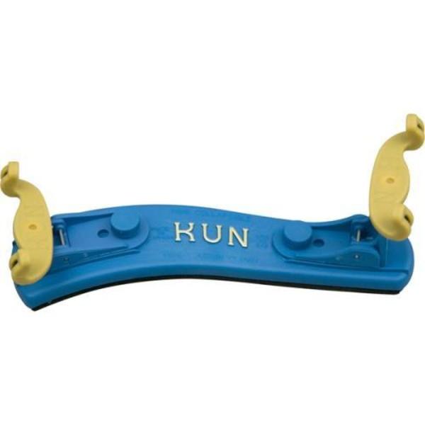 Kun Collapsible Violin Shoulder Rest 1/4-1/8 size Blue