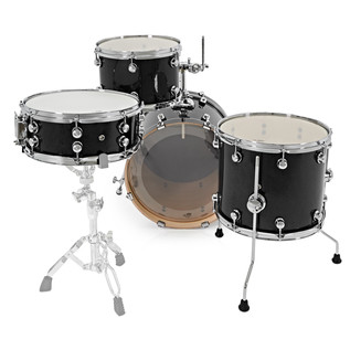 Natal Arcadia 4 Piece Jazz Shell Pack, Black Sparkle