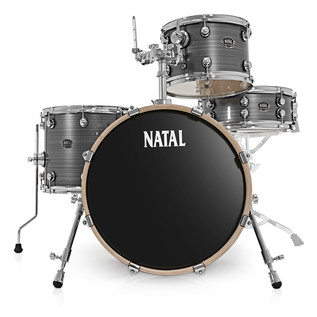 Natal Arcadia 4 Piece Jazz Shell Pack, Grey Strata
