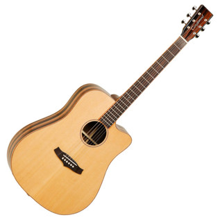 Tanglewood TWJDCE Java Dreadnought Cutaway, Natural