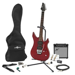 Indianapolis Electric Guitar + Complete Pack, Quilted Trans Red