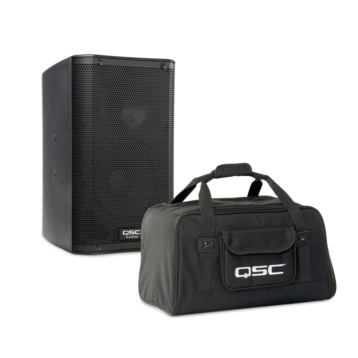 DISC QSC K10 Active PA Speaker with Tote Carry Bag
