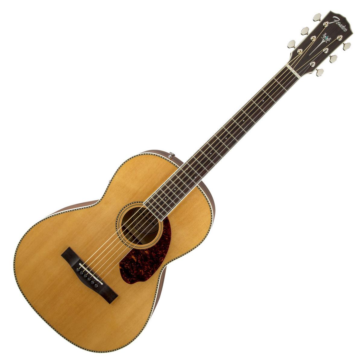 fender pm 2 standard parlour acoustic guitar natural at gear4music. Black Bedroom Furniture Sets. Home Design Ideas