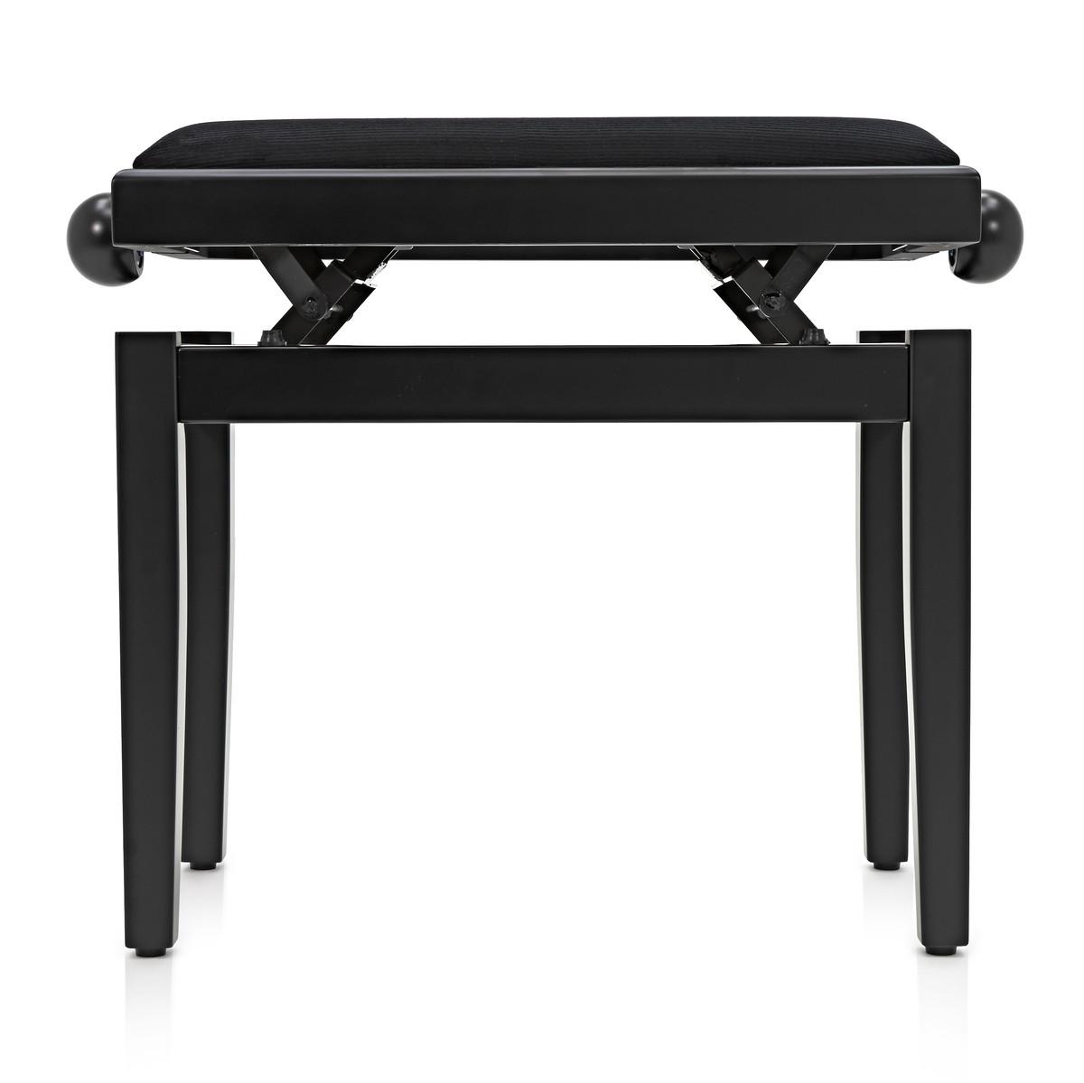 tabouret de piano r glable par gear4music noir mat b stock gear4music. Black Bedroom Furniture Sets. Home Design Ideas