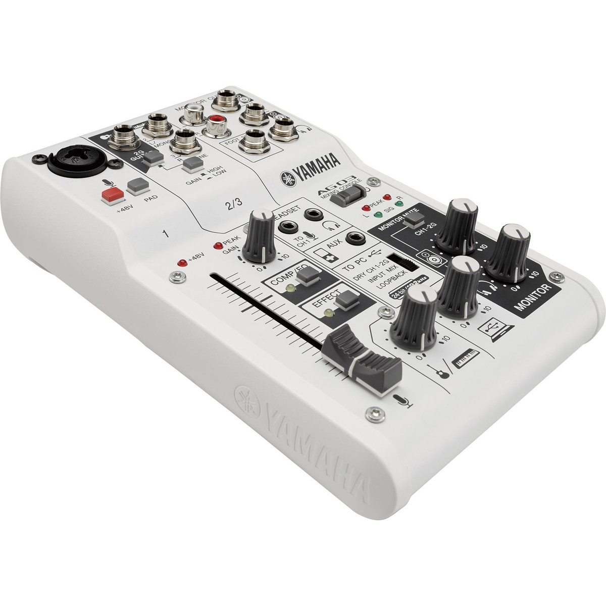 Yamaha Ag03 3 Channel Hybrid Mixer Nearly New At Gear4music Telephone Circuit