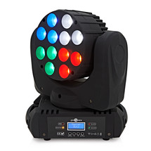12 x 10w led moving head light by gear4music