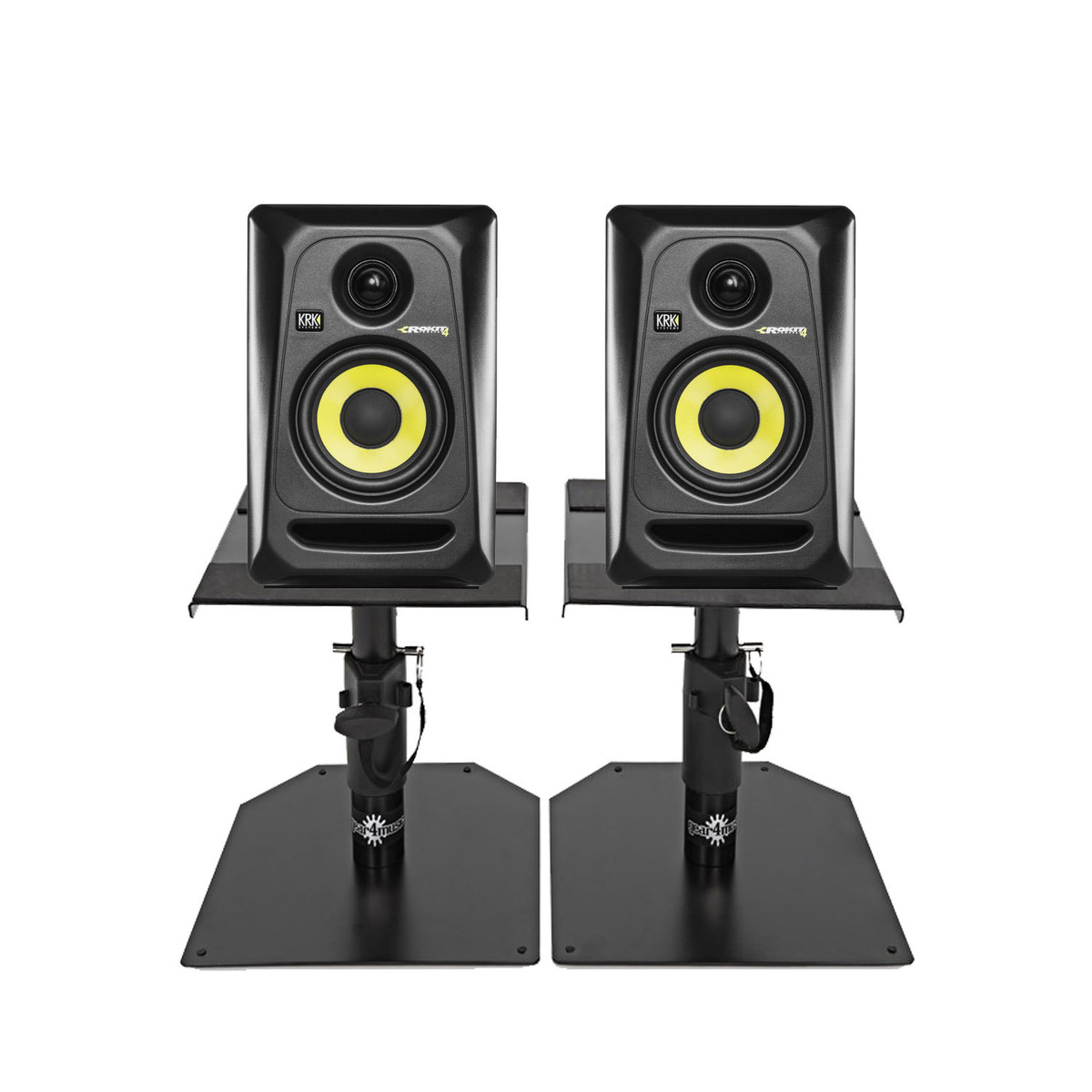 Krk Rokit Rp4 G3 Studio Monitors With Desktop Stands Pair At Gear4music
