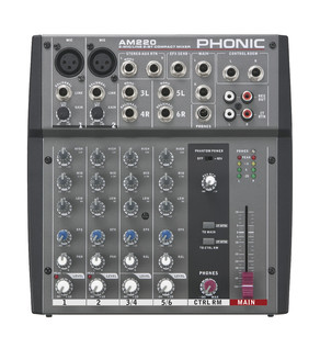 Phonic Jubi 12A PA System with Mixer, Stands and Cables