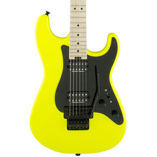 Charvel So-Cal Pro Mod Style 1 2H FR Electric Guitar, Neon Yellow