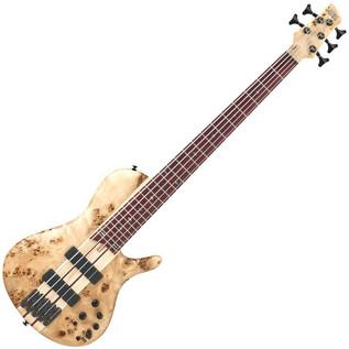 Ibanez SRSC805-NTF Singlecut Bass Guitar - Angled View