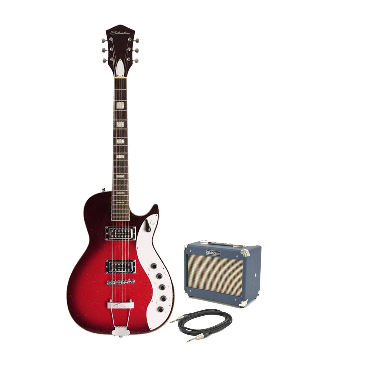 silvertone 1423 electric guitar subzero tube 5 pack red burst at gear4music. Black Bedroom Furniture Sets. Home Design Ideas