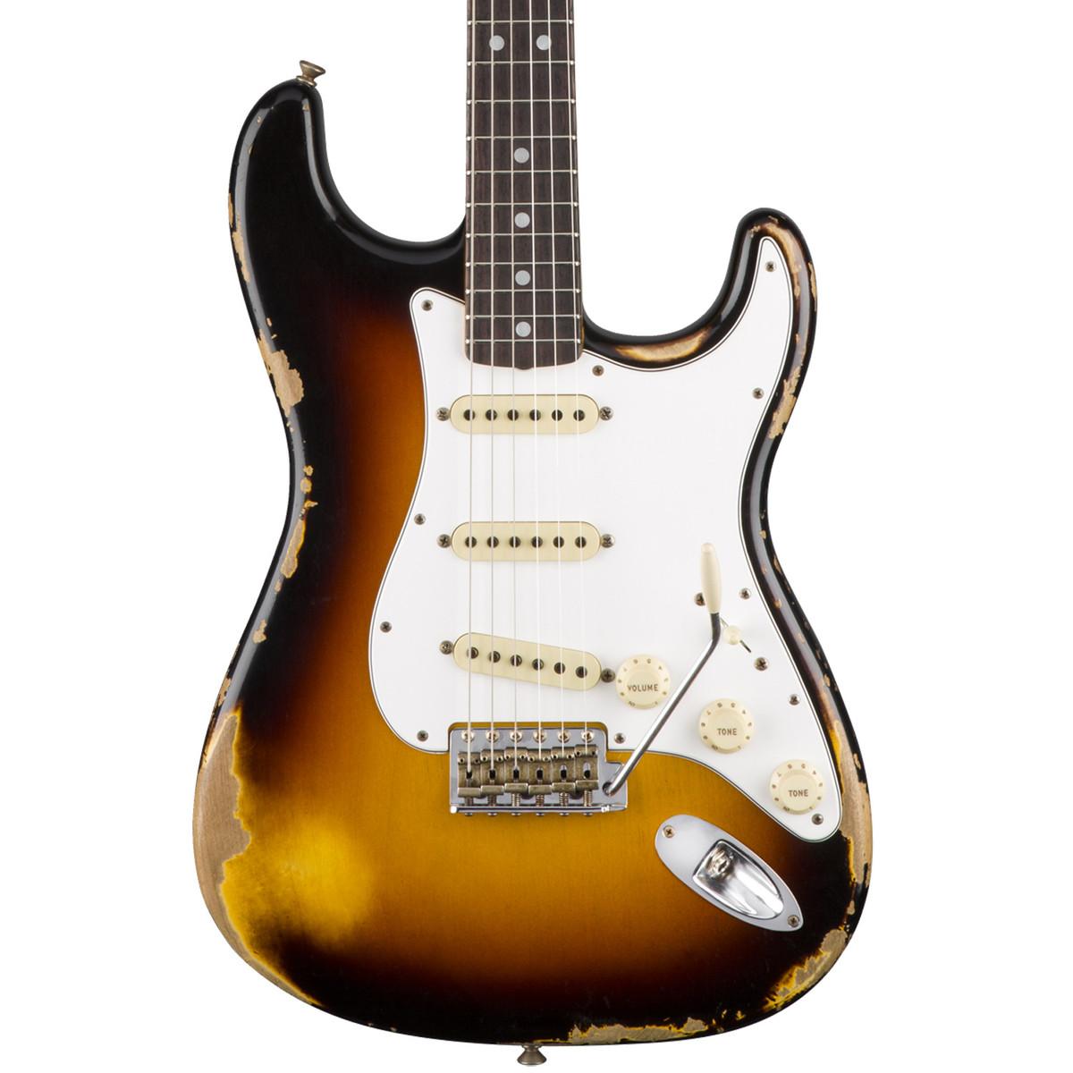 Fender Custom Shop 1967 Heavy Relic Stratocaster, 3-Colour Sunburst.  Loading zoom