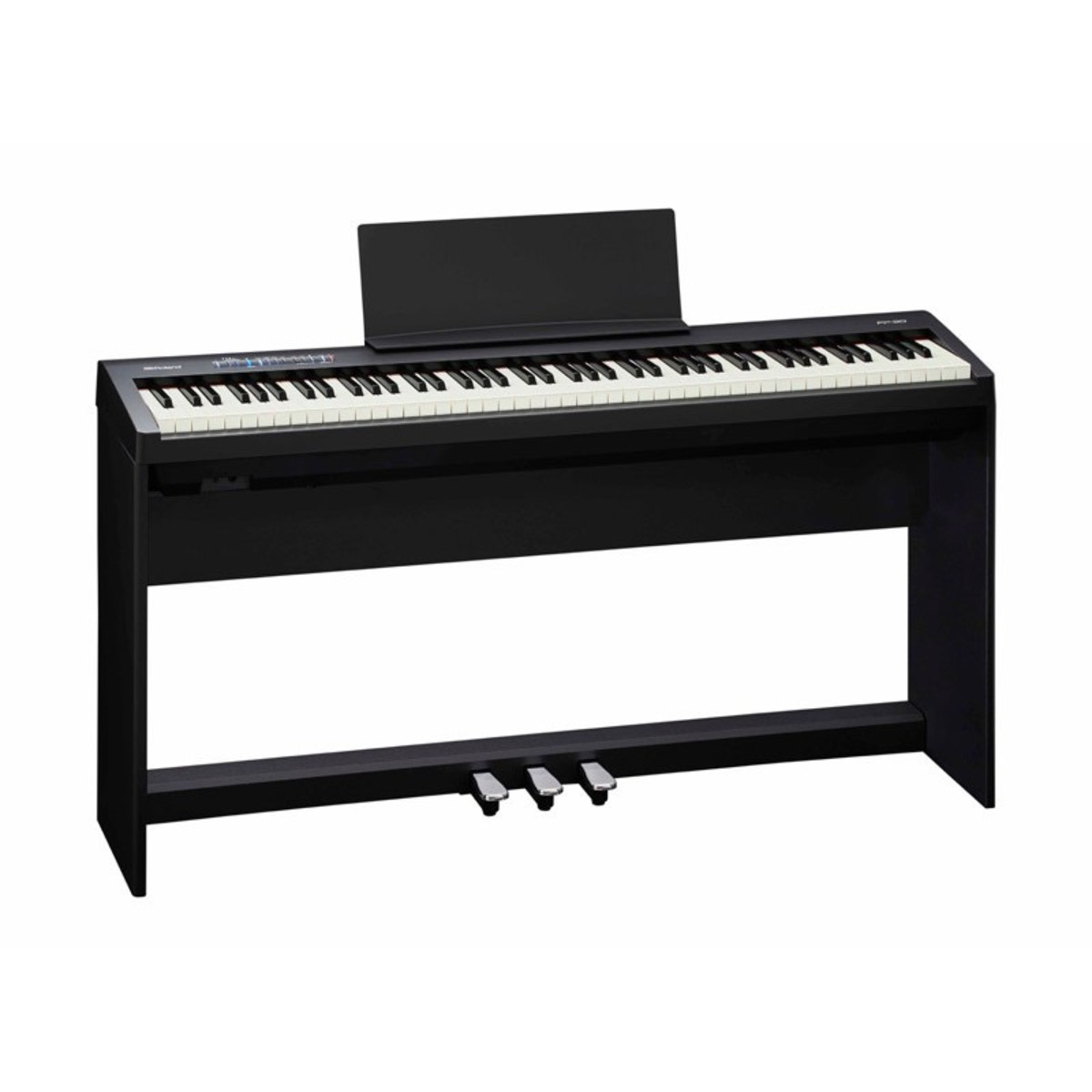 roland fp 30 digital piano with stand and pedals black at gear4music. Black Bedroom Furniture Sets. Home Design Ideas
