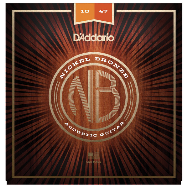 Daddario Nickel Bronze Acoustic Guitar Strings, Extra Light, 10-47