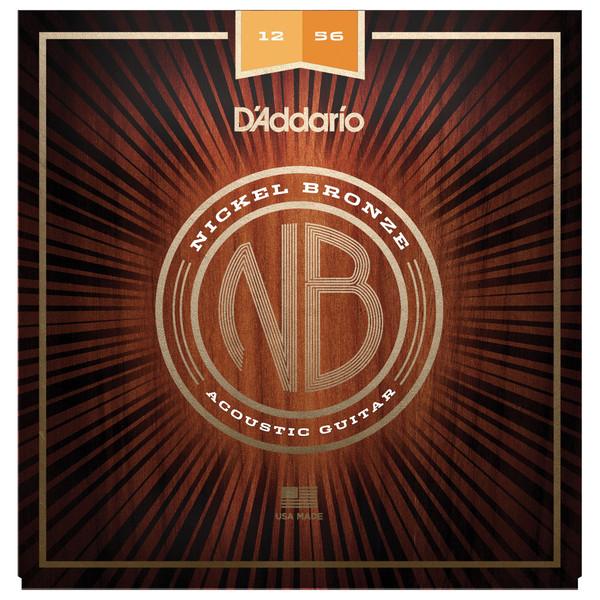 Daddario Nickel Bronze Guitar Strings Light Top Med Bottom, 12-56