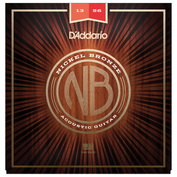 Daddario Nickel Bronze Acoustic Guitar Strings Medium 13-56