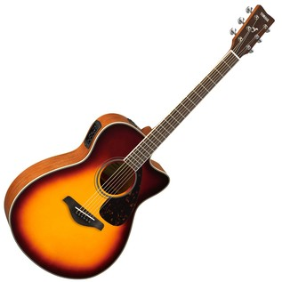 Yamaha FSX820C Electro Acoustic Guitar, Brown Sunburst