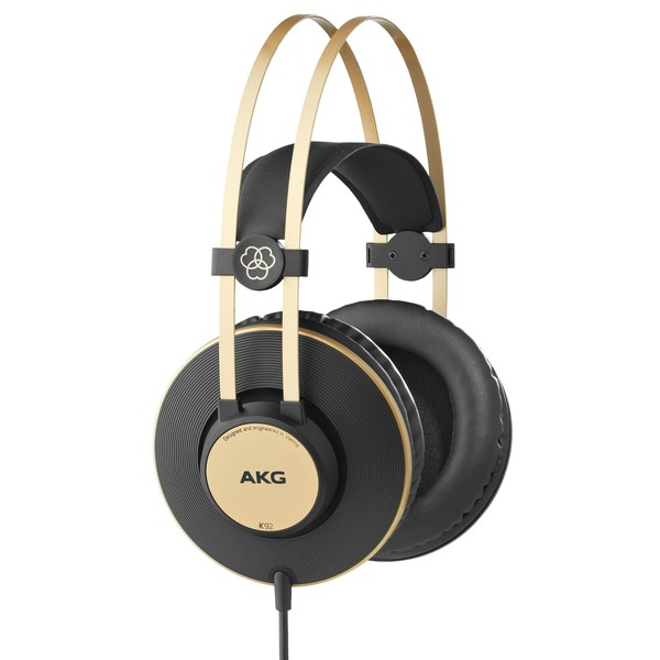 AKG K92 Closed Back Studio Headphones, Black/Gold