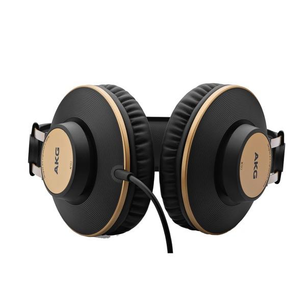 AKG K92 Closed Back Studio Headphones, Black/Gold