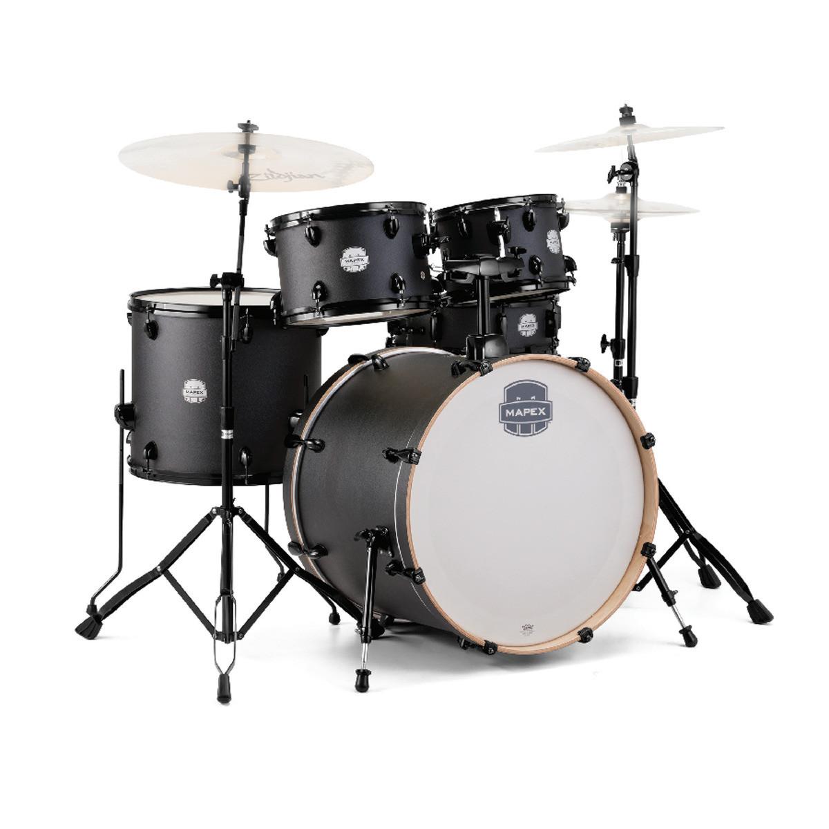 Mapex Storm 20 Fast Fusion Drum Kit W Hardware Textured Black At