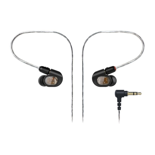 Audio Technica ATH-E70 Professional In-Ear Monitor Earphones, Front with Jack