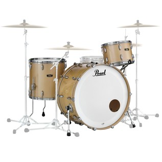 Pearl Wood Fiberglass 26'' 3 Piece Shell Pack, Platinum Mist