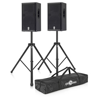 Yamaha DSR115 Active PA Bundle With Free Speaker Stands